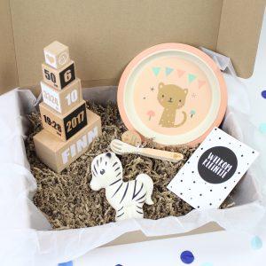 persoonlijke happy box met geboortetoren