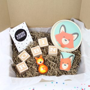 Persoonlijke happy box met naamblokken
