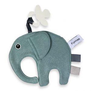 funnies olifant ollie speendoek stone green