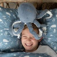 little dutch knuffel octopus blauw
