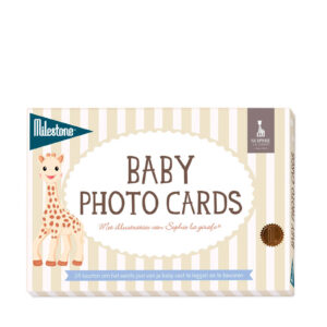 milestone-sophie-de-giraf-baby-fotokaarten-24-stuks-wit-
