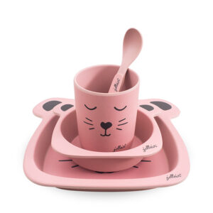 Jollein Dinerset bamboe Animal club rouge