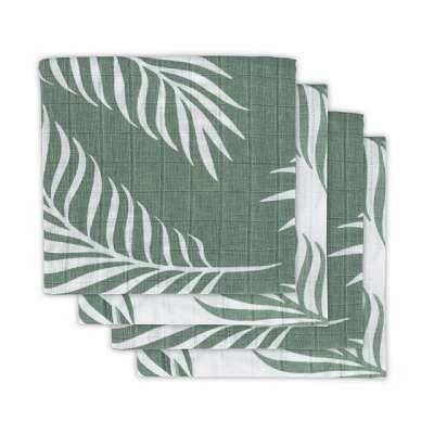 Jollein Hydrofiel multidoek nature ash green 4pack
