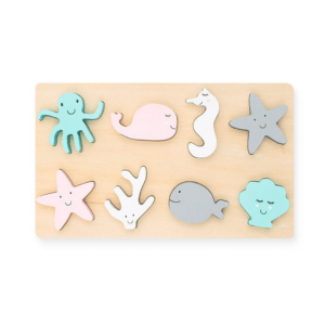 jollein houten puzzel sea animals