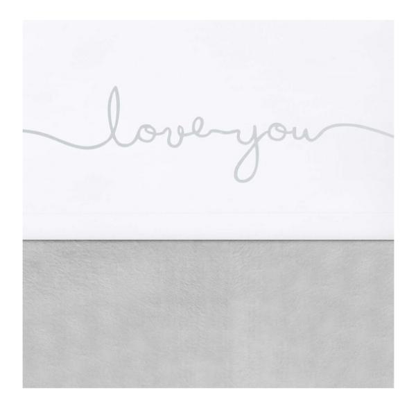 jollein laken love you grey