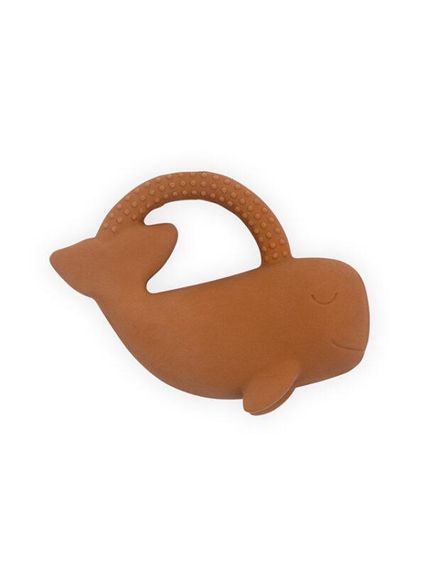 Jollein Bijtring Rubber Whale - Caramel