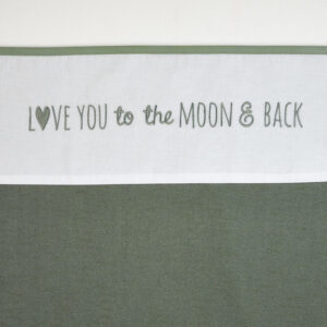 Meyco wieglaken love you to the moon and back forrest green
