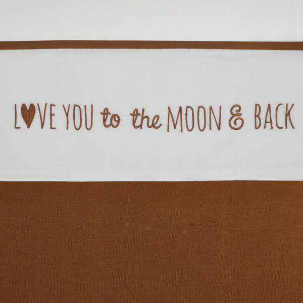 Meyco wieglaken love you to the moon and back caramel