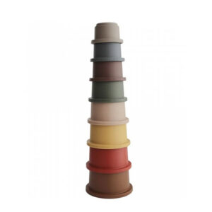 mushie stacking cups retro