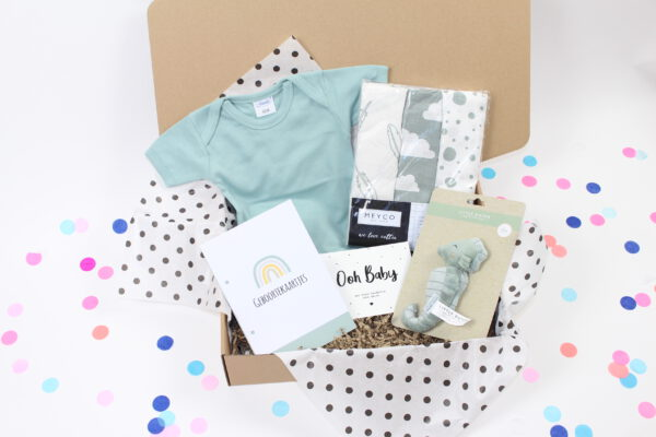 Happy little Box baby box baby on the way