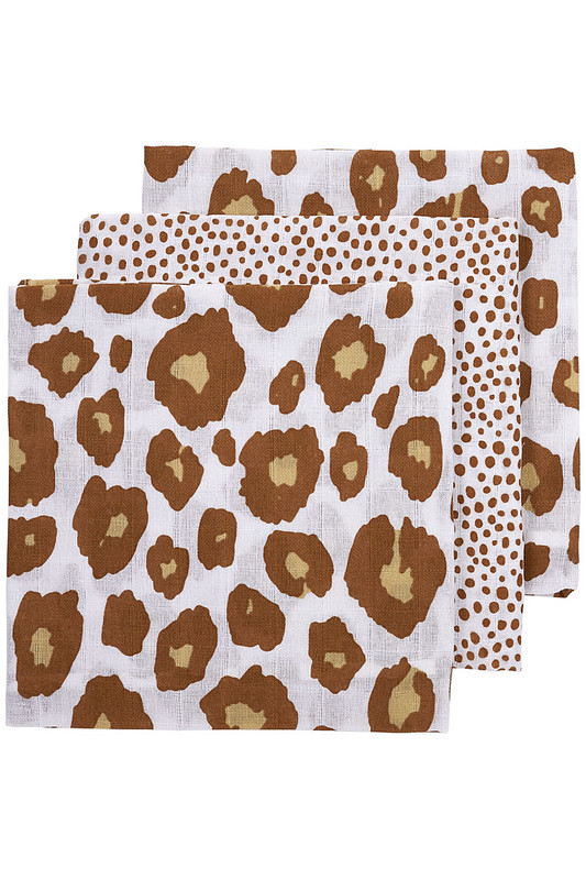 3-pack Panter/Cheetah - Camel - 70x70 cm
