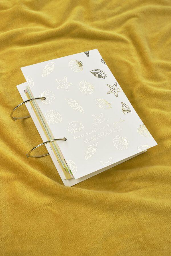 Geboortekaartjesbundel Shells - Gold Edition